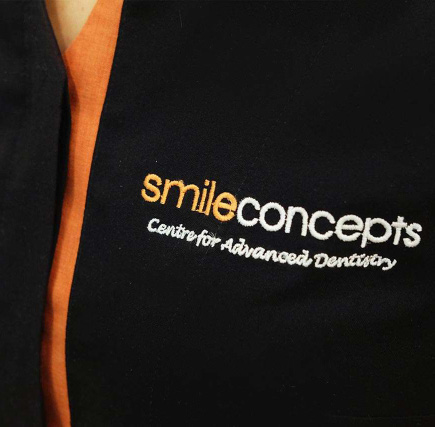 smile concepts logo black