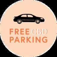free parking circle smile concept